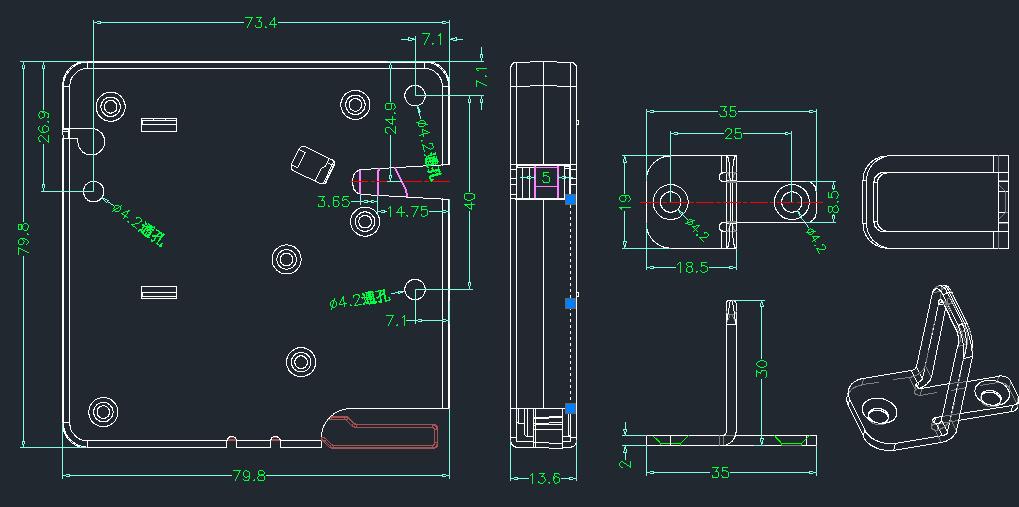 电控锁模具图